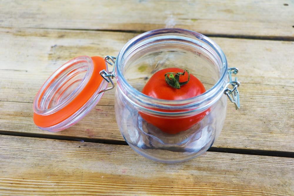Tomate im Einmachglas
