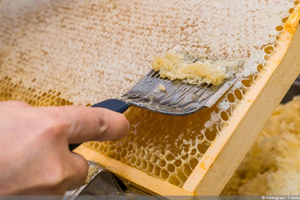 Honigwaben öffnen
