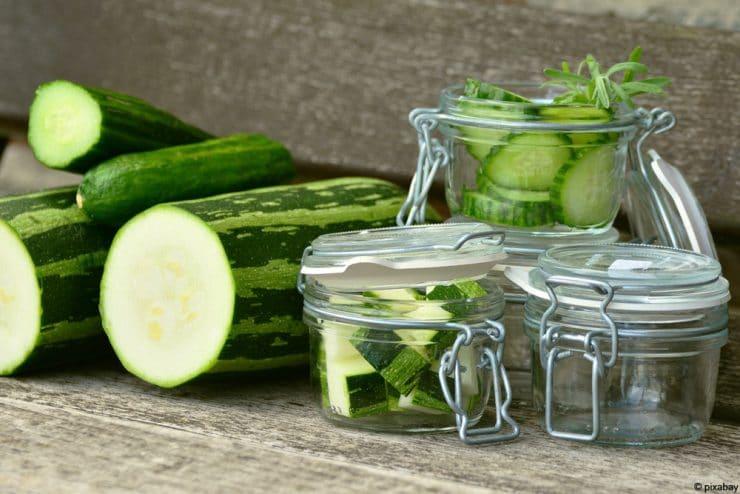 Zucchini Gurke einkochen