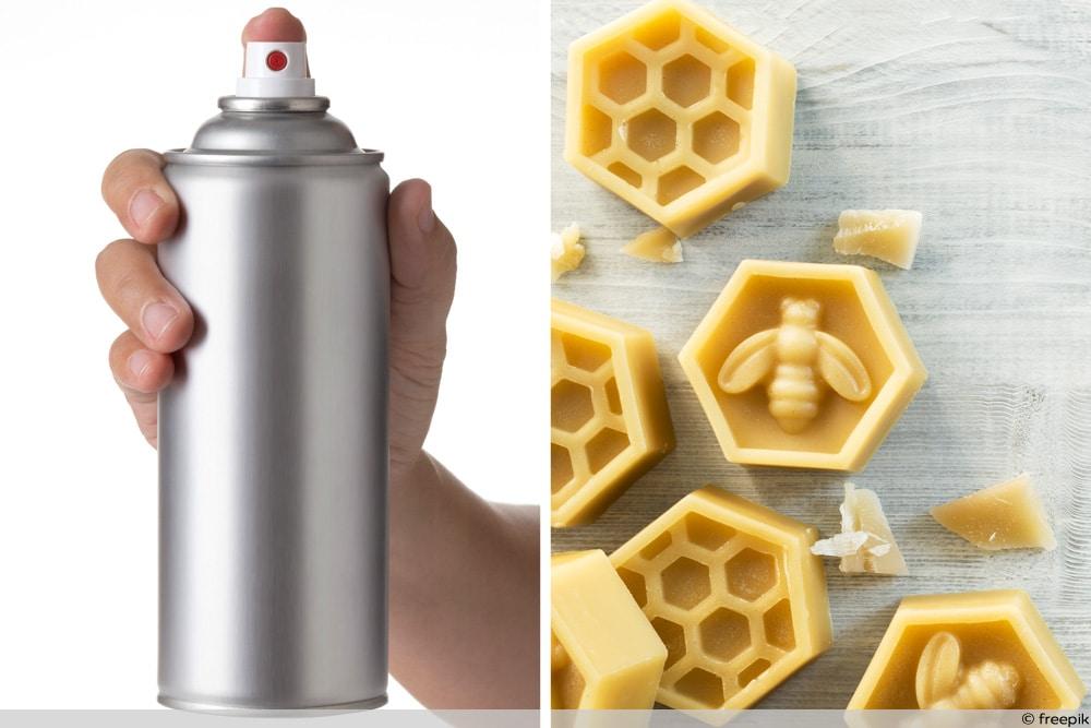 Haarspray und Bienenwachs