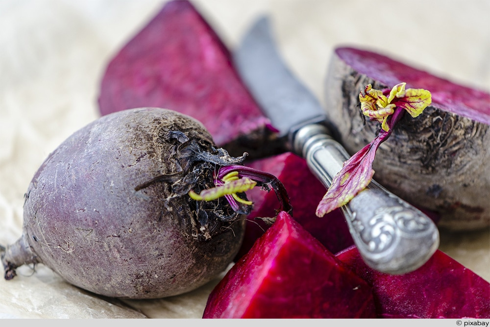 Rote Beete Messer